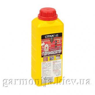 Силиконовый гидрофобизатор для кирпича и бетона СТРАЖ-15 (концентрат 110) бутылка 1 л