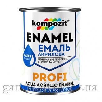 Эмаль акриловая PROFI Kompozit 0,8 л Белый Шелковисто-матовая