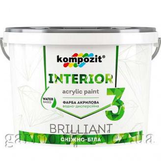 Краска интерьерная INTERIOR 3 Kompozit 4,2 кг