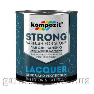 Лак для камня STRONG Kompozit 0,9 л