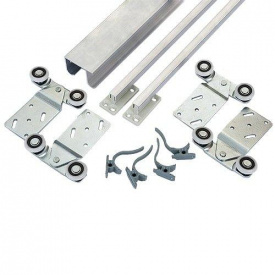 Раздвижная система для шкаф-купе Новатор для 2 х дверей весом до 30 кг и рельса 1,5 м