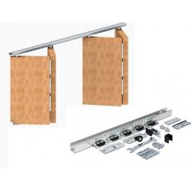 Розсувна система на дві двері-книжки Новатор МКК 2 N 2 1,5 м