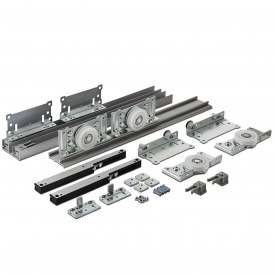 Раздвижная система для шкаф-купе Новатор 880 D с доводчиками для 2х дверей весом до 80 кг и рельса 3 м