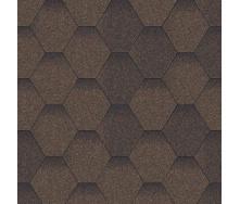 Битумная черепица Aquaizol Мозаика 320х1000 мм коричневый микс