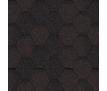 Битумная черепица Aquaizol Мозаика 320х1000 мм коричневый эко