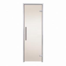 Дверь GREUS Premium хаммам 70х190 бронза матовая