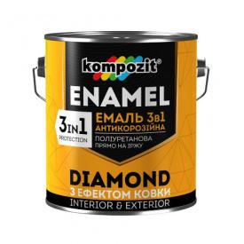 Эмаль с эффектом ковки 3в1 Композит DIAMOND коричневый 0,65 л