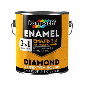 Эмаль с эффектом ковки 3в1 Композит DIAMOND графит 0,65 л