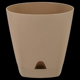 Горшок для цветов AMSTERDAM D 170 с прикорневыми поливом 2,5 л Молочный Шоколад