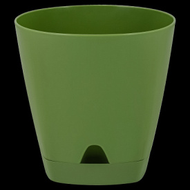 Горшок для цветов AMSTERDAM D 250 с прикорневыми поливом 8 л Оливковый