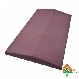 Коник для забору бетонний 580х500 мм червоний