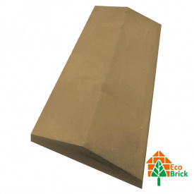 Коник для забору бетонний 285х680 мм жовтий