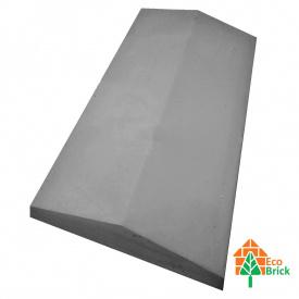 Конек для забора бетонный 360х680 мм серый