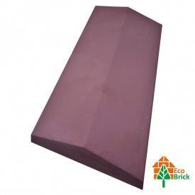 Коник для забору бетонний 680х220 мм червоний