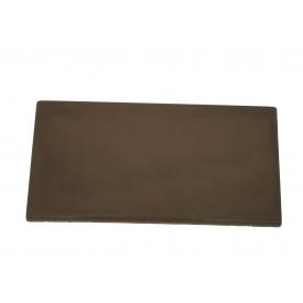 Цокольная плита на забор 200х400 мм коричневая