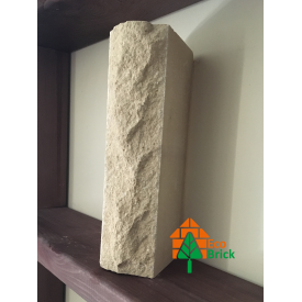 Кирпич облицовочный ECOBRICK скала ложок 250x100x65 мм слоновая кость