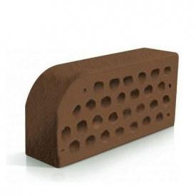 Кирпич фасонный Евротон коричневый лицевой ВФ-5