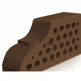 Кирпич фасонный Евротон коричневый лицевой ВФ-10