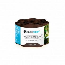 Бордюр огородно-газонный CellFast коричневый 200x9000