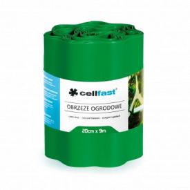 Бордюр огородно-газонный CellFast зеленый 200x9000