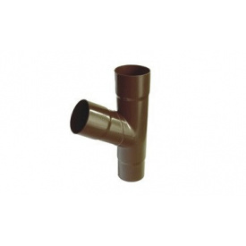 Тройник 11 90mm Plastmo коричневый