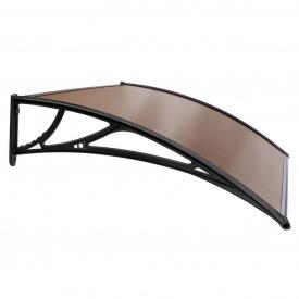 Навіс для вхідних дверей Siker 800-C (800 * 1500) Чорний