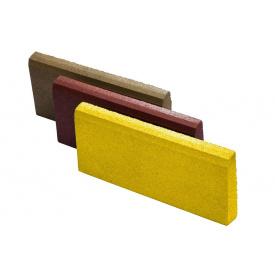 Резиновый бордюр RubCover 500х300х70 мм ярко-желтый