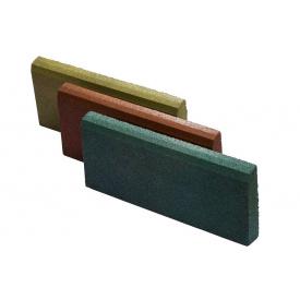 Резиновый бордюр RubCover 500х300х70 ммкоричневый
