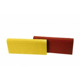 Резиновый бордюр RubCover 500х250х40 мм ярко-желтый