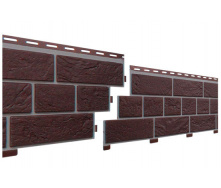 Цокольный сайдинг под кирпич Славянка прокрашенный коричневый 1,84 м