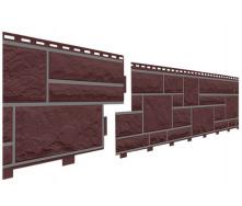 Цокольный сайдинг под камень Доломит прокрашенный корица 2 м