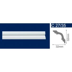 Плінтус стельовий екструдований Solid С27/35 Білий 32x32x2000 мм