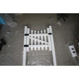Калитка пластиковая из ПВХ Калитка штакет 1450 мм