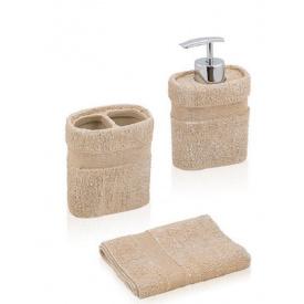 Комплект аксесуарів у ванну кімнату Trento Terry бежевий міні