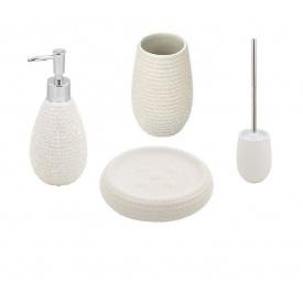 Trento Sabbia комплект аксессуаров в ванную комнату белый