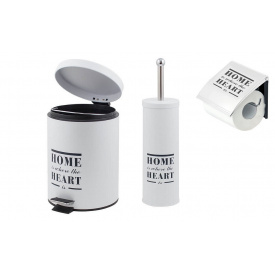Trento Home Heart комплект аксессуаров в ванную комнату white