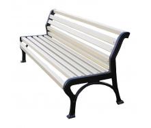 Скамейка садово-парковая ИГ №6 1800х560х760 мм белая чугунные ножки