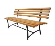 Скамейка деревянная Фирменная 1800х600х850 мм садовая-парковая