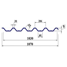 Профнастил ПК45 0,5мм мат поліестер Польща