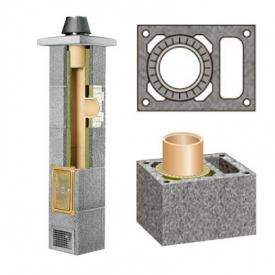 Комплект керамического дымохода Schiedel Rondo Plus одноходовой с вентиляцией Plus 140 мм 9 м