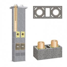 Комплект керамічного димоходу Schiedel Rondo Plus двотяговий з вентиляцією Plus 200 мм+200 мм 5 м