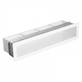 Вентиляционная решетка с рамкой V-OPEN I / R 450х100 белая Ventlab