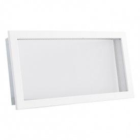 Вентиляционная решетка V с сеткой KRVSM 450х220 белая Ventlab