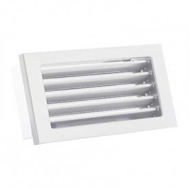 Вентиляционная решетка V с неподвижными жалюзи KRVZS 325х195 белая Ventlab