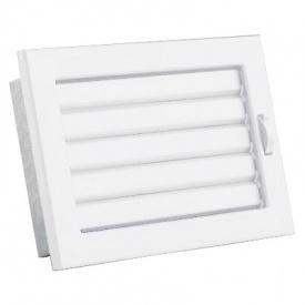 Вентиляционная решетка V с подвижными жалюзи KRVZ 220х220 белая Ventlab