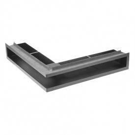 Вентиляционная решетка V-OPEN-L / R угловая с рамкой KRVO-L / R 500х500х70 черная Ventlab