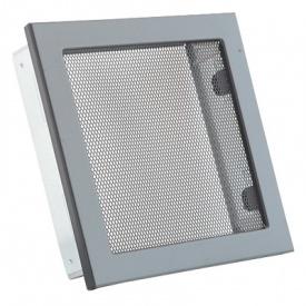 Вентиляционная решетка V с сеткой KRVSM 220х220 черная Ventlab