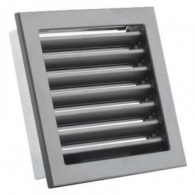 Вентиляционная решетка V с неподвижными жалюзи KRVZS 220х220 черная Ventlab