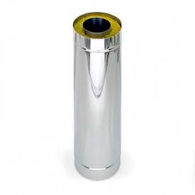 Труба 0,5 м 300/360 мм нержавіюча сталь/оцинковка 1/0,5 мм двостінний елемент