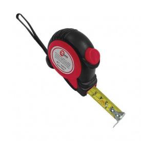 Рулетка 7,5 м 25 мм с автоматической блокировкой полотна на зацепе полотна установлены магниты INTERTOOL MT-0808,00